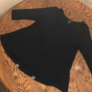W5-Anthropologie Flare Top Size XL Black